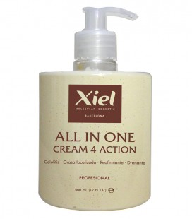 Crema Anticelulítica Moldeadora de 4 acciones / ALL IN ONE CREAM 4 ACTION 500ml
